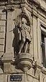Vue 2 Statue Saint Jean Baptiste angle façade hôtel bernou de rochetaillée saint etienne.jpg