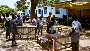 Music of Zimbabwe - Zimbabwean primary school students playing marimbas