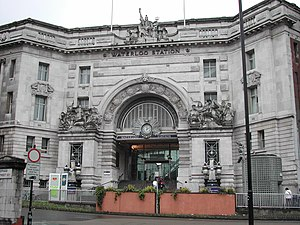 James Robb Scott - Victory Arch at Waterloo station. Scott's most famous work