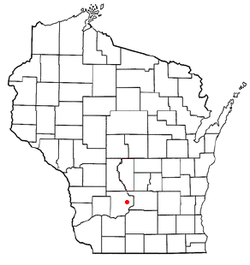 Location of Baraboo (town), Wisconsin