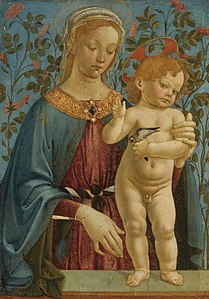 WORKSHOP OF ANDREA DEL VERROCCHIO THE MADONNA AND CHILD RESTING AT A PARAPET.jpg