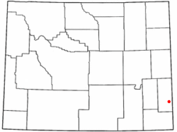 Location of Huntley, Wyoming