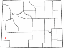 Location of Diamondville, Wyoming