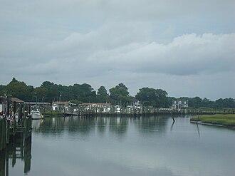 Wachapreague, Virginia - Sea marsh and fishing boats in Wachapreague