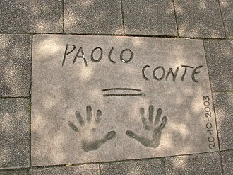 Paolo Conte - Handprints at Rotterdam's Walk of Fame