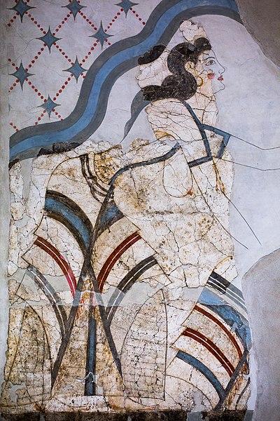 Akrotiri fresco from House of the Ladies