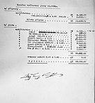 Walter Super 6 (1931) 10 000 km vyúčtování podepsané Antonínem Kumperou.jpg