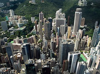Wan Chai - High density buildings in Wan Chai