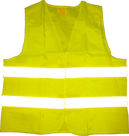 A high-visibility vest, the key symbol of the protests Warnweste gelb-2.jpg
