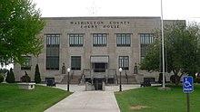 Washington County, Kansas courthouse from W 2.JPG