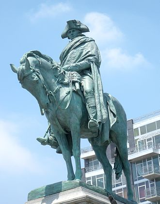 Landing at Kip's Bay - Statue of George Washington in Brooklyn