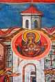 Watra Mołdowica Vatra Moldoviţei , cerkiew, fresk.jpg