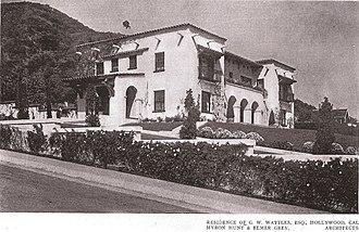 Wattles Mansion - Wattles Mansion in 1913