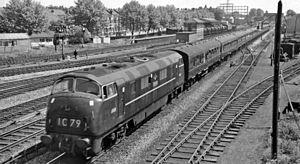 British Rail Class 43 (Warship Class) - D836 'Powerful' hauling a Paddington-Bristol express in 1962