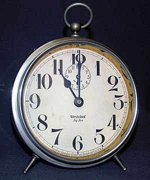12-hour clock - A typical analog 12-hour clock