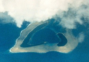 Western pacific atoll
