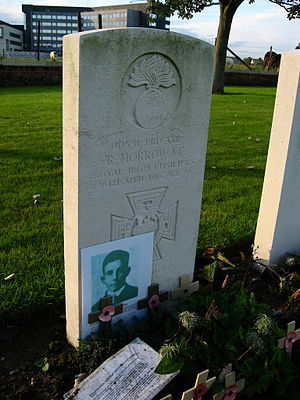 Robert Morrow - Image: White House cemetery Private R Morrow VC local
