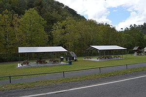 National Register of Historic Places listings in Buchanan County, Virginia - Image: Whitewood picnic shelters