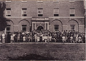 Whitson - A meeting of the Monmouthshire Bee Keepers Association, Whitson Court, c.1941
