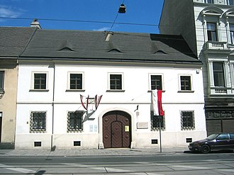 Franz Schubert - The house in which Schubert was born, today Nussdorfer Strasse 54