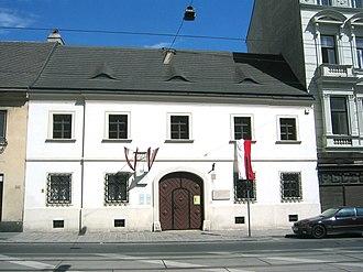 Franz Schubert - The house in which Schubert was born, today Nussdorfer Strasse 54