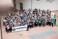 Wikimedia Hackathon Vienna 2017-05-20 GROUP PHOTO 02.jpg