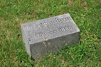 William Bliss Baker - Baker's headstone in Albany Rural Cemetery in Menands, New York.