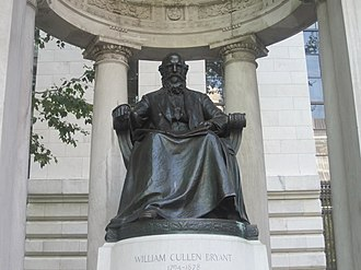 New York Medical College - William Cullen Bryant Memorial in Bryant Park adjacent to the New York Public Library