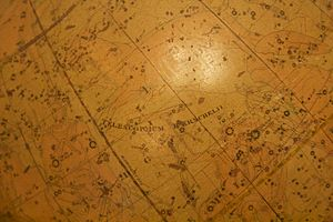 Telescopium Herschelii - Telescopium Herschelii on a celestial globe at the Herschel Museum of Astronomy, Bath