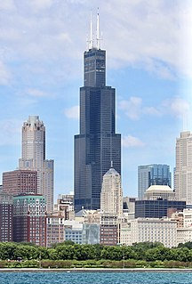 Willis Tower Skyscraper in Chicago, Illinois