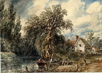 Willy Lott's Cottage - Image: Willy Lott's Cottage by John Constable 1832