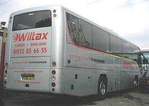 Plaxton Panther - Image: Wiltax Y335 AUT rear