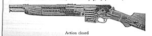 Winchester Model 1907 - Cross-section of a Winchester Model 1907.