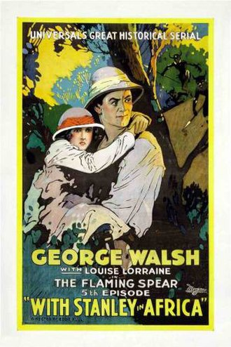 George Walsh - Promotional poster for With Stanley in Africa (1922)