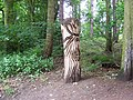 Wooden sculpture by footpath - geograph.org.uk - 471248.jpg