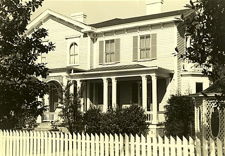 Woodrow Wilson's home in Columbia, South Carolina 1871-1875. Woodrow Wilson Boyhood Home, 1705 Hampton St., Columbia (Richland County, South Carolina).jpg