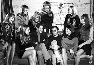 Woody Allen - Allen with the Broadway cast of Play It Again, Sam (1969).