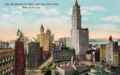 Woolworth Building and City Hall Park, New York City 1910s.png