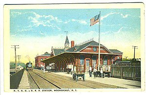 Woonsocket Depot - Woonsocket Depot on a 1923 postcard