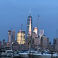 World Trade Center from Newport, Jersey City at dusk.jpg