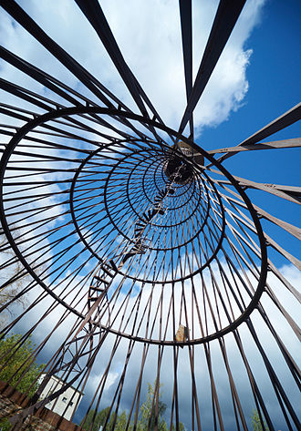 Diagrid - The world's first diagrid hyperboloid structure in Polibino, Russia