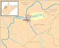 Worthington Creek map.png