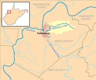 Worthington Creek - Image: Worthington Creek map