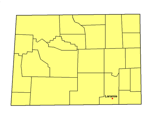 Wy albany county map