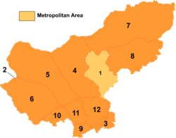 Divisions of Xilingol; Xianghuang is 10 on this map