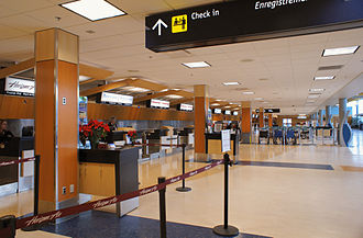 Victoria International Airport - Departure/Check-in area