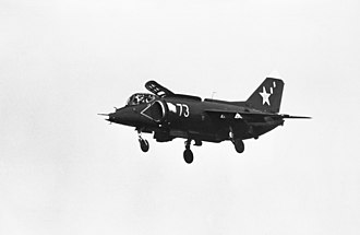 Yakovlev Yak-38 - A Soviet Yak-38 Forger with its landing gear down