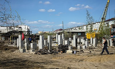 Yakoutsk Construction d'immeuble.jpg