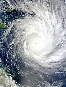 Image satellite du cyclone Yasi le 1er février 2011 (source : NASA)