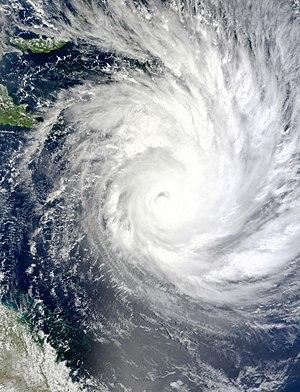 Cyclone Yasi - Satellite image of Cyclone Yasi intensifying on 1 February